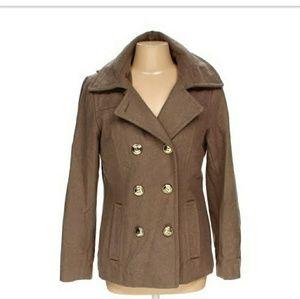 Wool blend lined coat